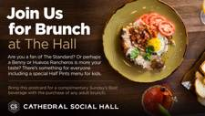 Cathedral Social Hall Brunch Mailer (AdMail)